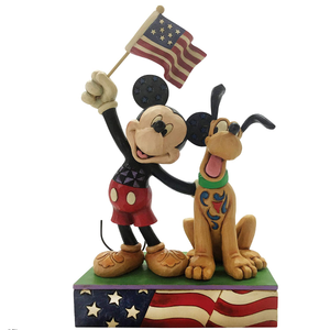 Collectibles | Enesco Disney Traditions by Jim Shore Mickey and Pluto Patriotic Figurine
