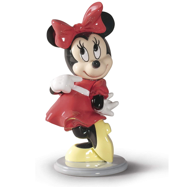 LLADRÓ Disney Minnie Mouse Figurine. Porcelain Minnie Mouse Figure.
