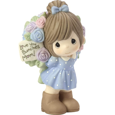 Precious Moments Love You Bunches Mom Girl Bisque Porcelain Figurine