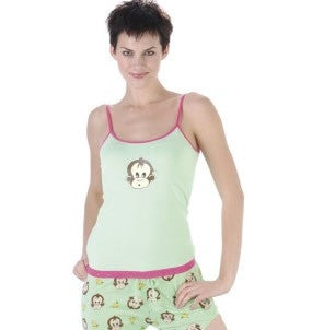 Sleepwear | Women's Monkey Pajamas Cami and Shorty Bottoms