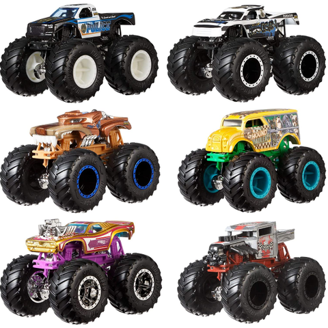 Diecast |   Hot Wheels Monster Demo Doubles Trucks 2 Pack