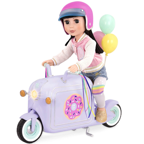 Glitter Girls Dolls by Battat Donut Delivery Scooter Toy Accessory