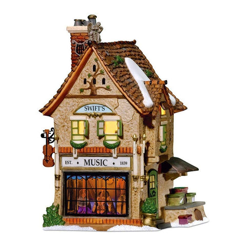 Department 56 Dickens' Christmas Village Swifts Stringed Instruments Lit House