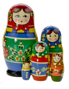 Dolls | Matryoshka Russian Nestings Dolls Zagorsk #104052-1