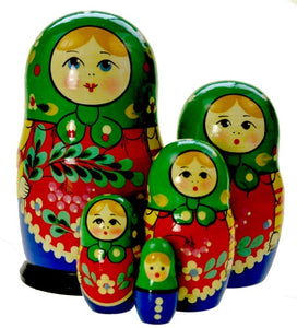 Dolls | Matryoshka Russian Nestings Dolls Zagorsk #104052-4