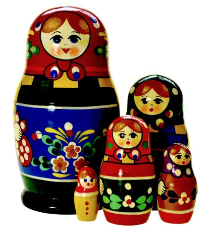Dolls | Matryoshka Russian Nestings Dolls Zagorsk #104052-6