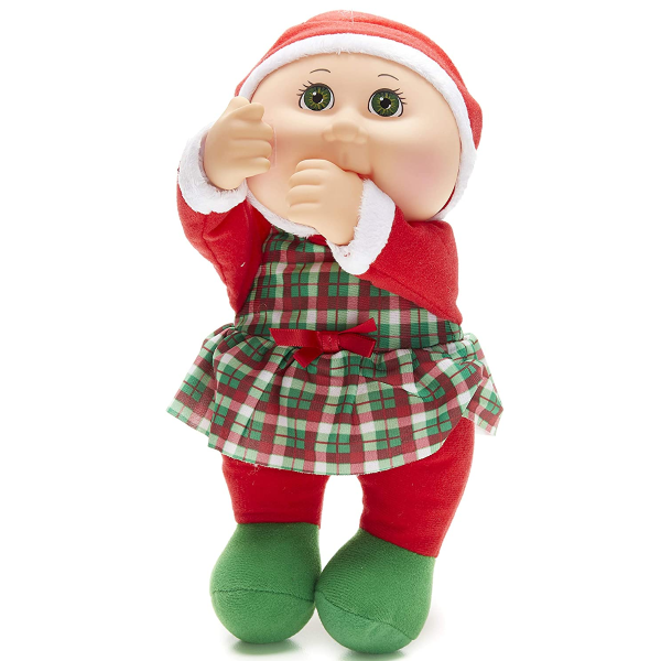 Cabbage Patch Cuties Noel Holiday Girl 9 Inch Soft Body Baby Doll Holiday Collection