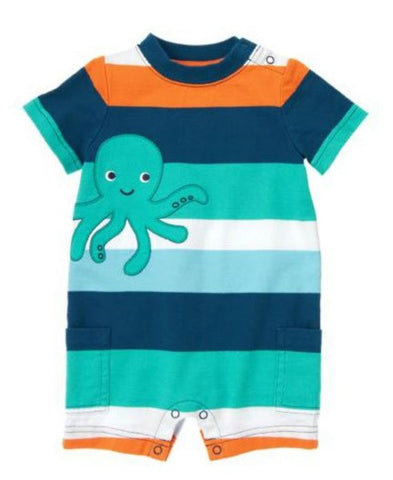 Baby Clothes | Gymboree Octopus Theme One-Piece For Baby Boy Size 0-3 Months