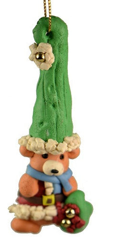 Holiday | Christmas Ornaments Teddy Bear in Large Green Hat Ornament