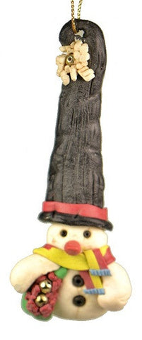 Holiday | Christmas Ornaments Snowman in Large Black Hat Ornament