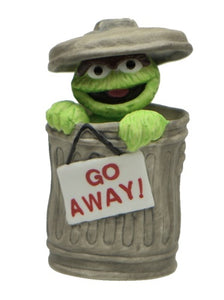 Collectibles | Sesame Street Oscar In Trash Can Figurine