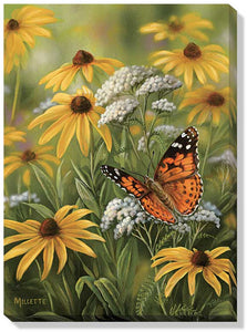 Art | Wrapped Canvas Art Painted Lady Butterfly by Rosemary Millette
