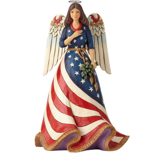 Enesco Jim Shore Heartwood Creek Patriotic Angel Figurine