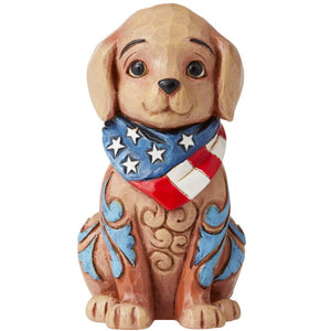 Enesco Jim Shore Heartwood Creek Patriotic Puppy Figurine