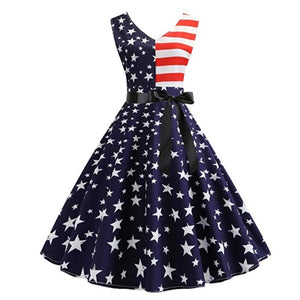 Dresses | Womens Vintage American Flag Style Dress