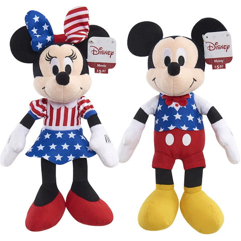 Disney Patriotic Bean Plush Mickey and Minnie Mouse