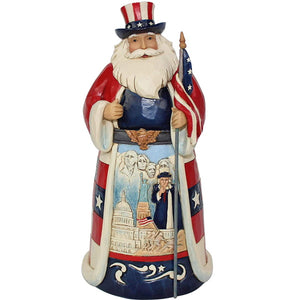 Enesco Jim Shore Heartwood Creek Patriotic America Santa Around The World Figurine