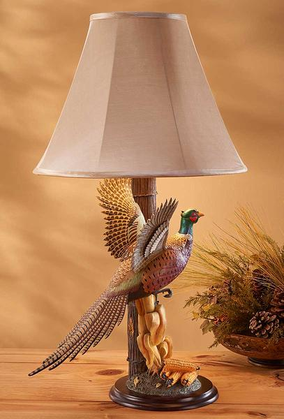 Decoys | Pheasant Table Lamp by Sam Nottleman