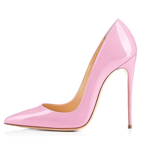 Women's Classic Pointed Toe Pumps High Heel Stilettos Slip On Pink Sexy Dress Shoes