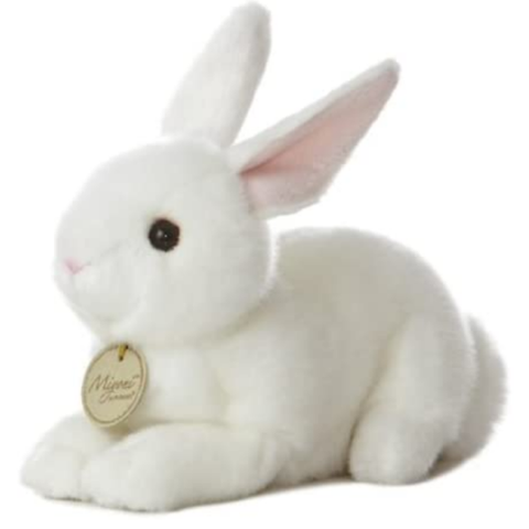 "8"" American White Plush Bunny Rabbit"