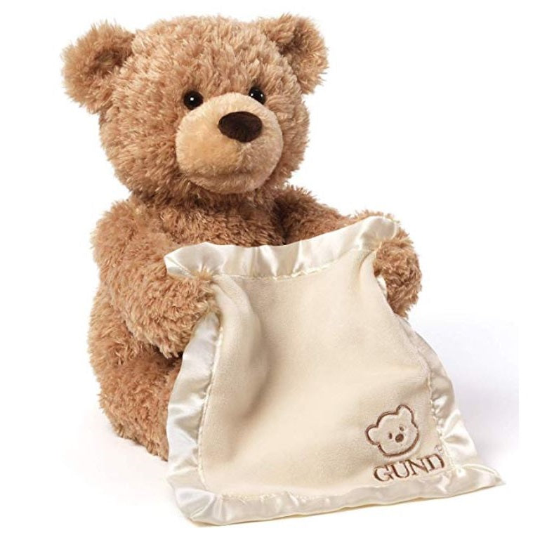 GUND Peek-A-Boo Teddy Bear Animated Stuffed Animal Plush