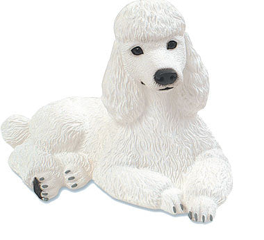 Figurines | Dog Sculpture White Poodle Gifts and Collectibles