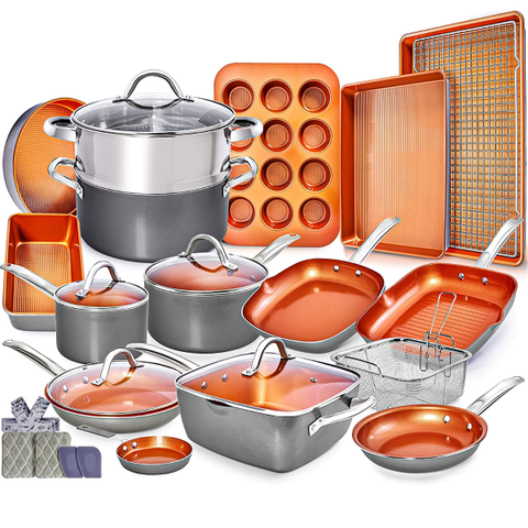 Kitchen | Copper Pots and Pans Set of 23 pieces