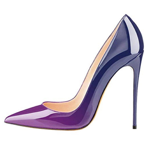 Womens Purple Pointed Toe High Heel Stiletto Pumps