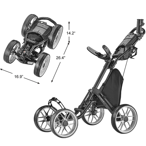 4 Wheel Golf Push Cart