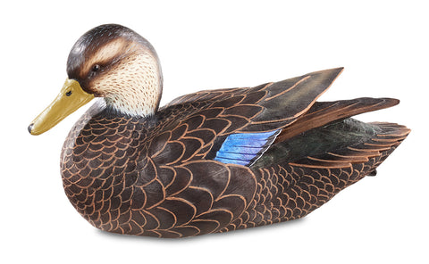Black Duck Decoy by Sam Nottleman 1/4 Size