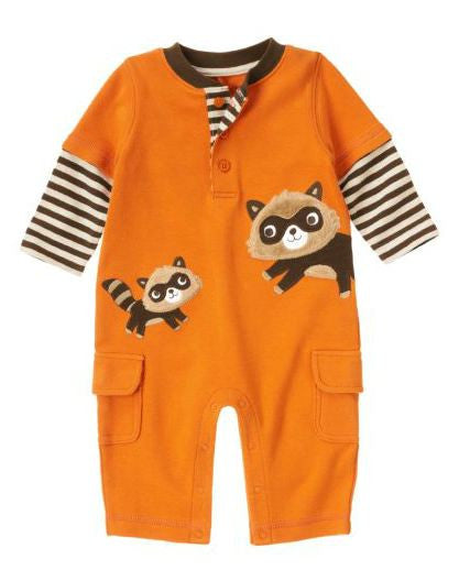 Baby Clothes | Gymboree Raccoon Theme One Piece 0-3 Months