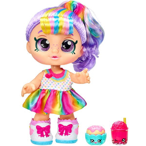 Kindi Kids Snack Time Friends Pre School 10 inch Doll Rainbow Kate