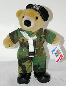 X - Plush | Army Ranger Black Beret Teddy Bear