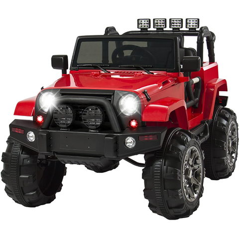 Ride On Red Jeep Car Truck with Remote Control For Children
