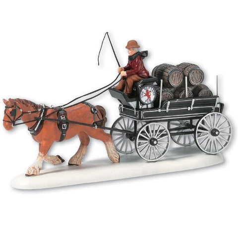 Department 56 Dickens' Village Red Lion Pub Beer Wagon