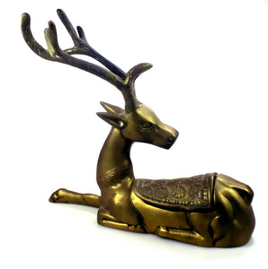 Holiday | Christmas Brass Reindeer Trinket Box