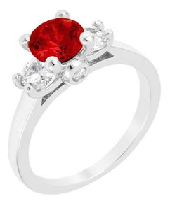 Jewelry | Ruby Red and Cubic Zirconia Ring Size 6