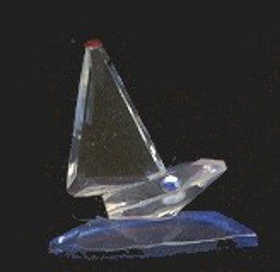 Crystal | Sailboat by Iris Arc Crystal Co. 1 Inch mini size