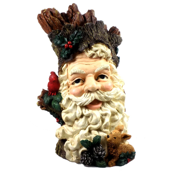Christmas Store | Santa with Cardinal in Tree Bark