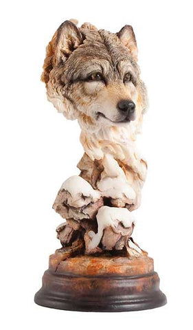 Figurines | Wolf Bust Sculpture Mill Creek Studio