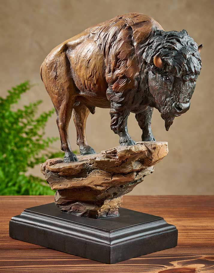 Mill Creek Studios Figurines | Bison and Buffalo Sculpture El Patron