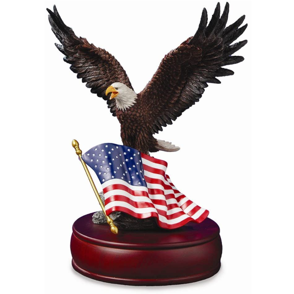 The San Francisco Music Box Company American Eagle Musical Figurine