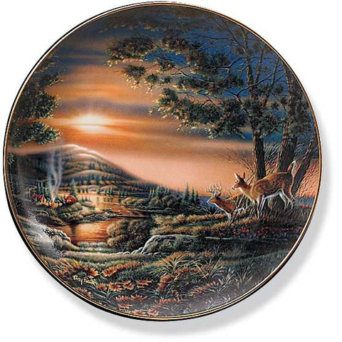 Collector Plates | Sharing the Sunset Deer Collector Plate by Terry Redlin
