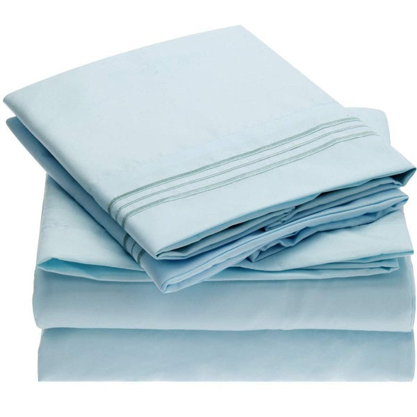 Mellanni Best Selling Bed Sheet Set Brushed Microfiber