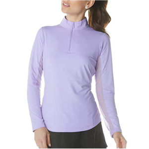Women's Sun Protective UPF 50+ Cooling Solid Long Sleeve Mock Neck Top