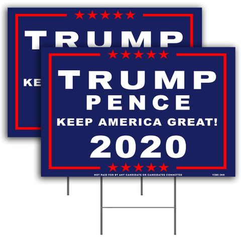 President Donald Trump Keep America Great! 2020 Pence MAGA Yard Sign