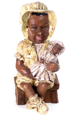 Collectibles | Black Americana Sitting Child with Doll African American Figurine