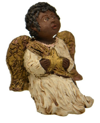 Figurines | Collectibles Black Angel Child with Star Figurine