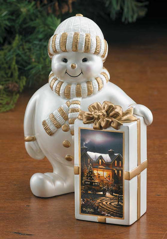Snowman Sculpture Figurine Featuring:  Crown Thy Good by Terry Redlin