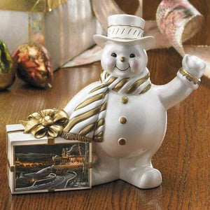 Snowman Sculpture Figurine Featuring: Family Tradition Snowman by Terry Redlin